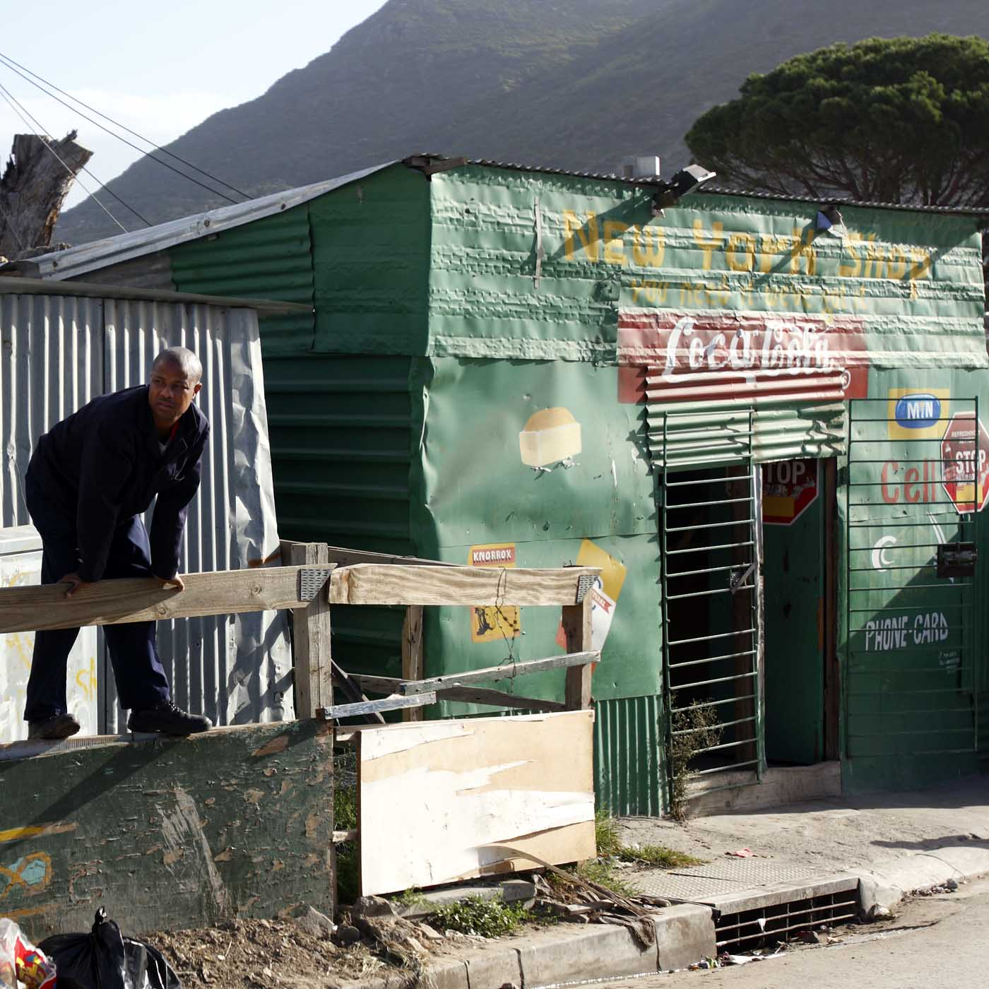 Hout Bay, South Africa, 2009. Mandela Park, a township with around 20.000 people.